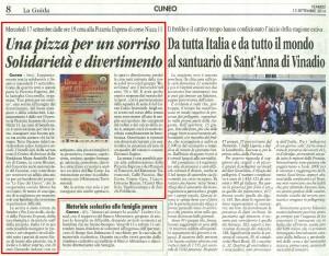THE BEAT CIRCUS CUNEO - LA GUIDA 12-09-14 PIZZA PER UN SORRISO PROMOZIONE PAGINA 8 CUNEO