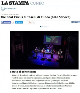 LA STAMPA.IT 13-12-2015 - THE BEAT CIRCUS CUNEO