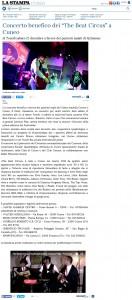 www.lastampa.it 26-11-15 UN CONCERTO PER MOLTI SORRISI  PILAT BEAT CIRCUS CUNEO